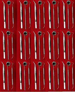 NEU 48 Instrumente Basic Dental Set Spiegel Explorer College Plier-Deutsche Ware