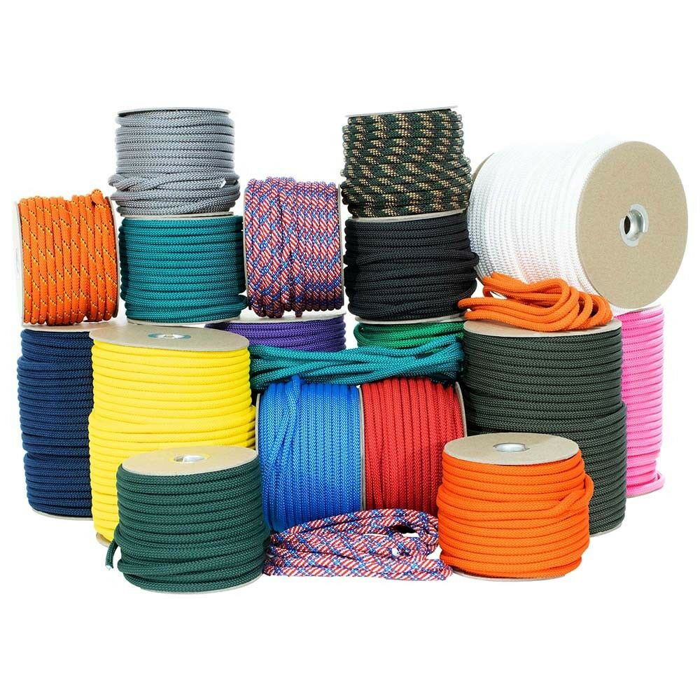 1 4  or 3  8  Nylon Utility Rope - Many Lengths & colors - Polypro Sheath  sale online discount low price