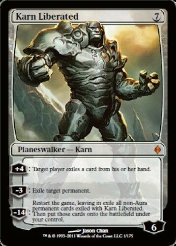 [1x] Karn Liberated [x1] New Phyrexia Nära Mint, English - BFG - MTG magi