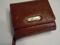 Buxton Women's Accordian Zip French Purse Genuine Leather Wallet, Wine