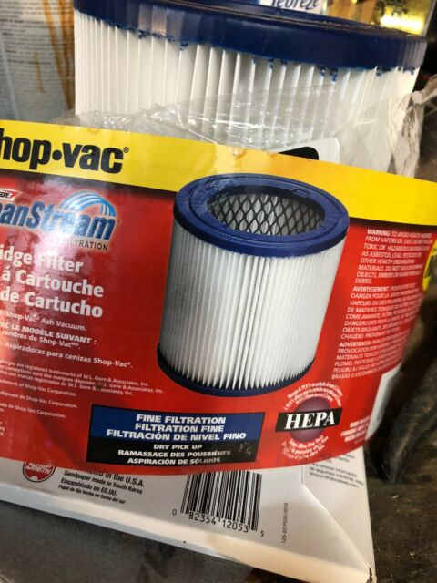 Shop Vac Clean Stream Filter 90329 Type NN Ash Vacuum