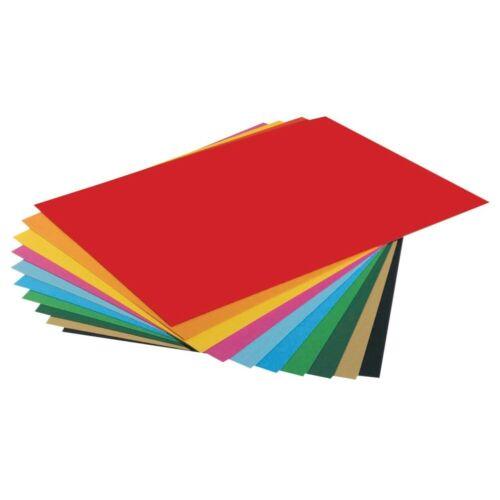 folia Tonpapier farbsortiert A4 130 g//qm Bastelpapier Tonkarton karton 20 Blatt!