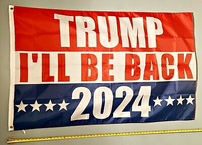 Trump Jr Ivanka 2024 USA Slant Sign 3x5 Donald Trump Flag FREE FIRST CLASS SHIP