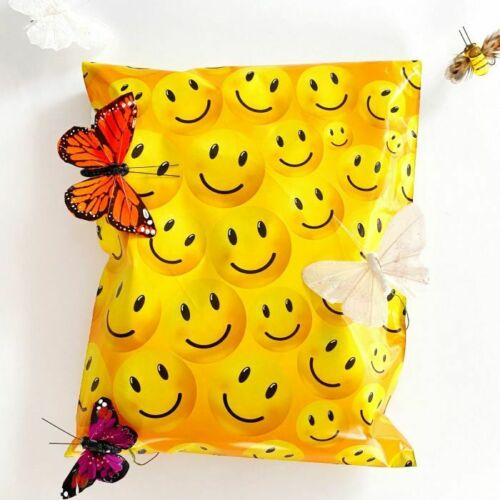 Boutique Designer Poly Mailer Bags Fast Shipping 1-1000 6x9 Happy Faces