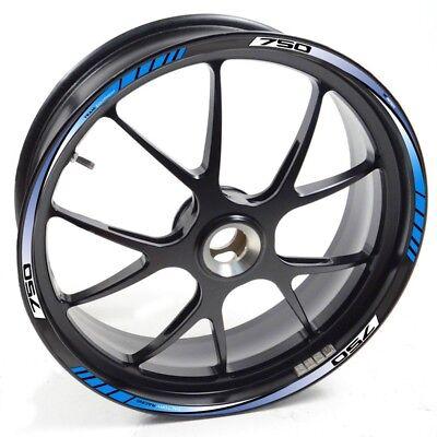 DEDE Felgenaufkleber Suzuki Silber GSX R GSXR GSX-R 1000 Z Blau felgenrand aufkl