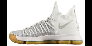 Nike Men's ZOOM KD 9 ELITE Shoes Pale Grey/Ivory 878637-001 NEW