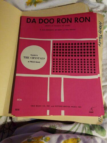 1963 SHEET MUSIC VINTAGE Da Doo Ron Ron The Crystals
