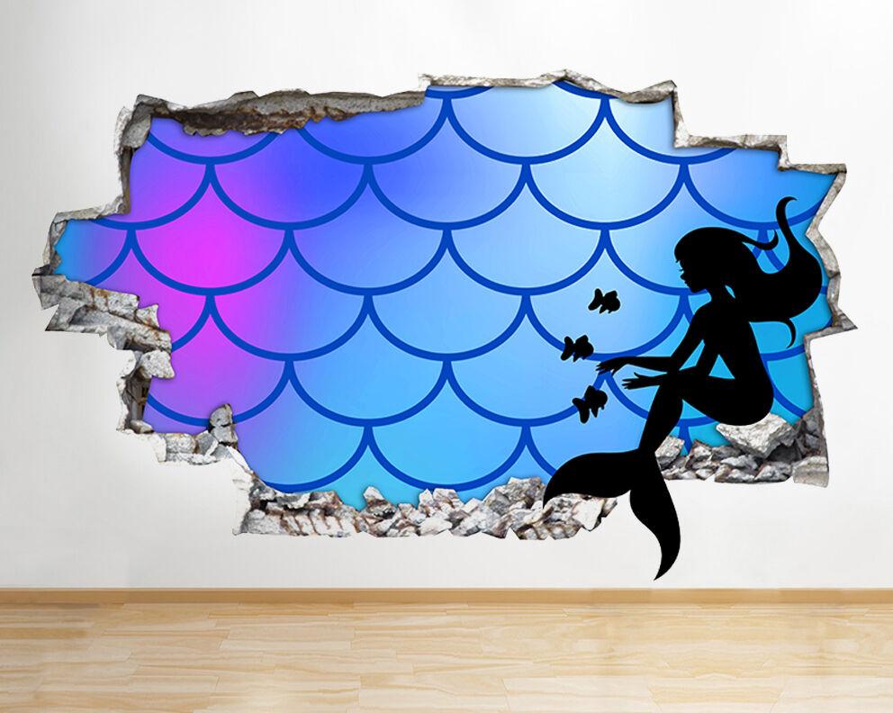 Q698 della sirena del modello Cool Kids  adesivo da parete camera bambini