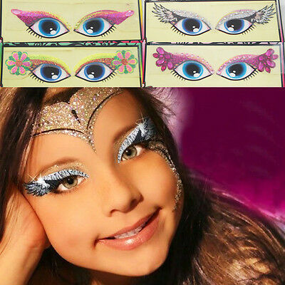 Girls Glitter Monster Reusable Makeup Kit Stickers Eye Make Up Costume Halloween
