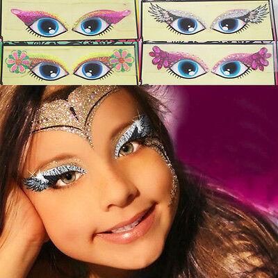 Girls Glitter Monster Reusable Makeup Kit Stickers Eye Make Up Costume Halloween
