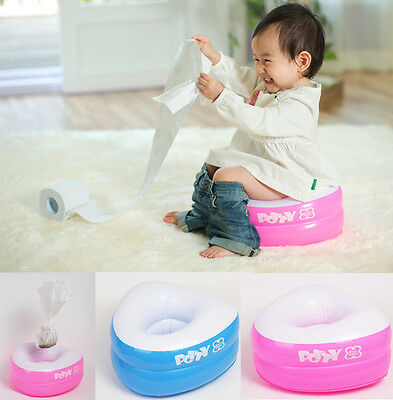 Portable Travel inflatable Potty+Disposable Liners10P+Absorbent Pads10P 2Color