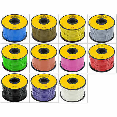 0,16€/m Draht Schaltdraht Kabel 0,8mm Spule 100m 11 Farben Cu/Sn incl De Versand