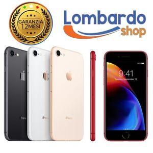 IPHONE 8 RICONDIZIONATO 64 256GB GRADO A+ AB B C BIANCO NERO ORO ROSSO APPLE