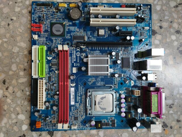 Gigabyte GA-VM900M Socket 775 Motherboard with Intel CPU Core2 & Heatsink & Back