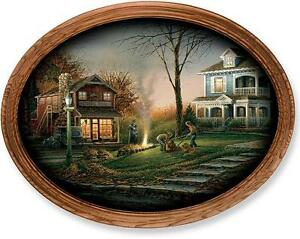 Terry Redlin Aroma Of Fall Oval Print Framed 19 X 15