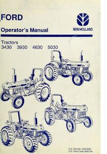 New Holland Ford Tractor Operator's Manual 3430 3930 4630 5030 - Digital Format