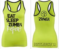 Zumba Instructor's Racerback Top Shirt Tank Hot Super Rare Fr.convention S M L