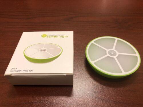 Motion Sensor Lemon Shape LED Night Light USB Power Buy 1 Get 1 Free!