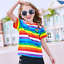Rainbow-Striped-Knitted-Fabric-Elastane-Stretch-Jersey-Cuff-Material-100-X-170cm thumbnail 6