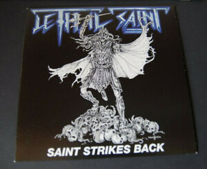 LETHAL-SAINT-Saint-strikes-back-7-034-ltd-new-mint-NWOBHM-style-from-Cyprus