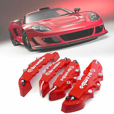 3D Red 4pcs Brembo Style Car Universal Disc Brake Caliper Covers Front & Rear