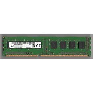 Lot of 4 Micron 4GB DDR3 1Rx8 PC3-12800U MT8JTF51264AZ-1G6E1 Desktop RAM Memory