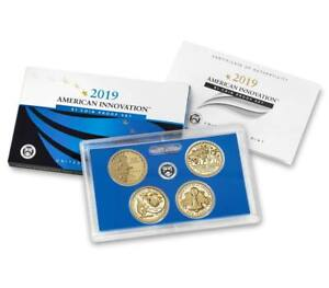 2019-S-PROOF-American-Innovation-Dollar-1-4-coin-set-in-US-Mint-OGP-w-COA