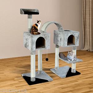 45-Cat-Tree-Scratching-Post-Condo-Kitten-House-Scratcher-Pet-Furniture-Gray