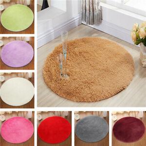 Round-Fluffy-Rug-Carpet-Non-Slip-Soft-Area-Rugs-Washable-Bathroom-Room-Floor-Mat