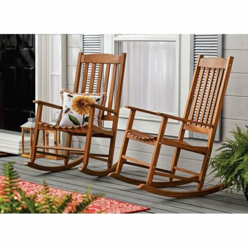 SET OF 2 Outdoor//Indoor Wood Rocking Chair Porch Patio Furniture MULTIPLE COLORS