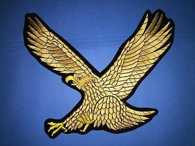 Large Golden Eagle Karate Taekwondo TKD Martial Arts MMA Gi Uniform Patch 524