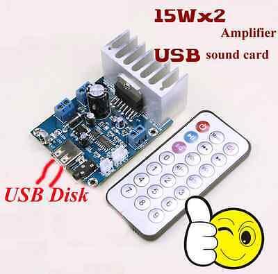 15W*2 Audio Amplifier Board TDA7297  With MP3 WMA Decoder DC12V + Remote Control