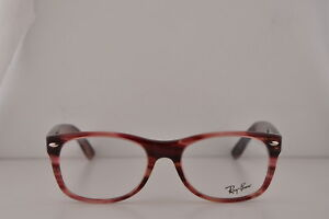cf0808f4465 Details about Ray Ban RX5184 Eyeglasses 52-18-145 Stripped Red w Demo Lens  5140 RB 5184 RB5184