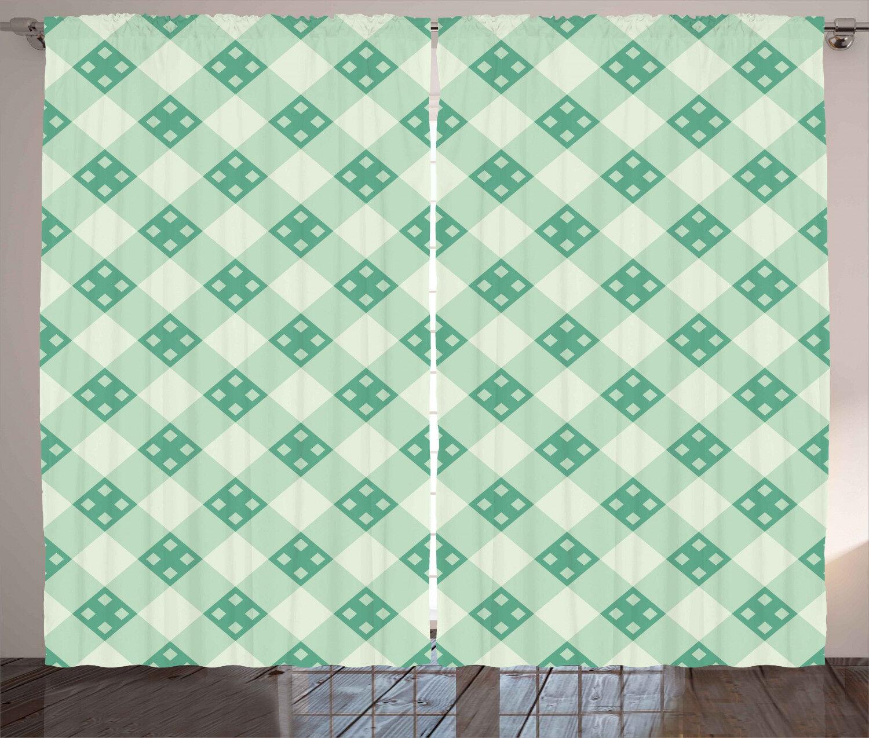 Mint Curtains 2 Panel Set Decor 5 5 5 Größes Available Window Drapes Ambesonne 5a862c