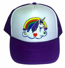 5bdd374557b item 3 Purple Unicorn Rainbow Snapback Mesh Trucker Hat Cap -Purple Unicorn  Rainbow Snapback Mesh Trucker Hat Cap