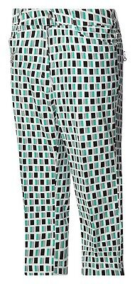 Golf Jrb Capri Pants Cut Offs Pedal Pushers Emerald Green /black Print 10,12,14,16,18
