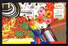 Colombie 2010 oiseaux perroquets expo Shangai bloc feuillet neuf ** 1er choix