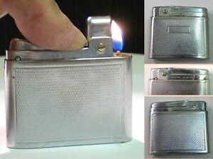 Briquet-ancien-Silver-Match-Compound-Art-Deco-Lighter-Feuerzeug-Accendino