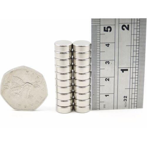 N35 10mm Schablone X 4mm Stark Neodym Scheiben Magneten Selbermachen Mro