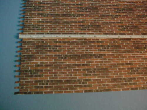 Miniature Embossed Brick Sheet Dark colors #34978