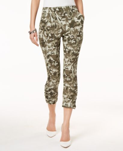 INC International Concepts Womens Camouflage Cropped Pants Glamorous Camo