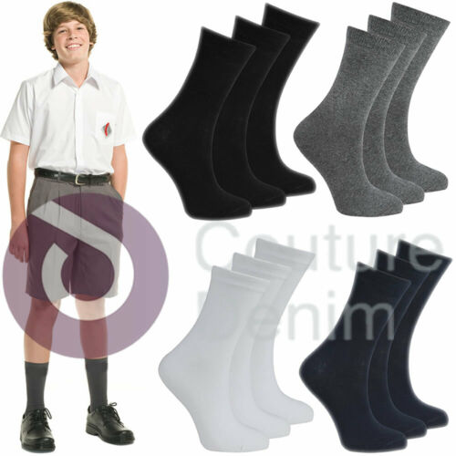 Girls Boys Ladies Plain Ankle Socks Cotton Mix Childrens Back To School