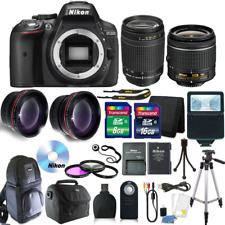 Nikon D5300 Digital SLR Camera with 18-55VR+70-300 Lenses + 24GB KIT+ Backpack