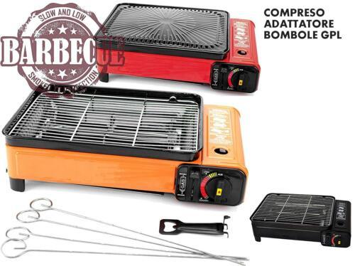 B-black® Cucina da Campeggio XXL Portatile con Adattatore bombo Barbecue a Gas