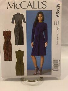 Misses Dress M7429 E5 14-22 Uncut