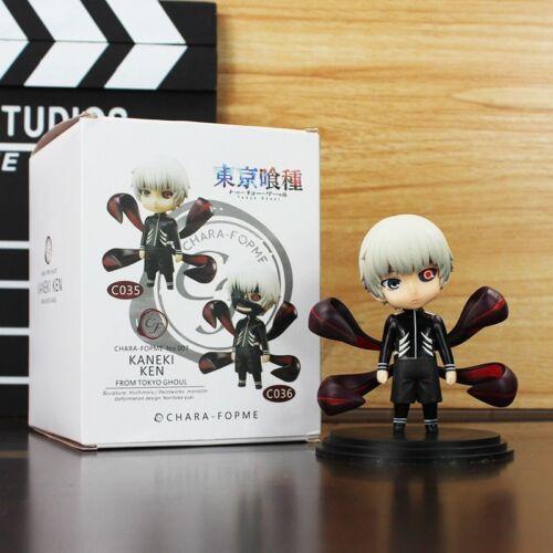 2Pcs 10cm Anime Tokyo Ghoul Kaneki Ken With Mask PVC Figure Toys Q Version Model