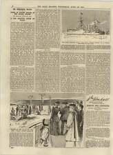 1892 HMS Royal Sovereign próspera ciudades de Texas Kowalsky crucifixión escena