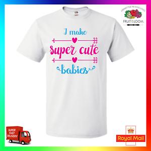 I Make Super Cute Babies TShirt T-Shirt Tee Cute Baby Pregancy Mum Dad Maternity