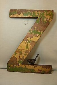 MDF-LETTER-034-Z-034-WALL-HANGING-Camo-Look-Metal-Bird-Accent-About-1-2-x-8-1-4x-12-034