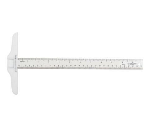 Westcott T-Square JR-12 12 inches Plastic Clear View